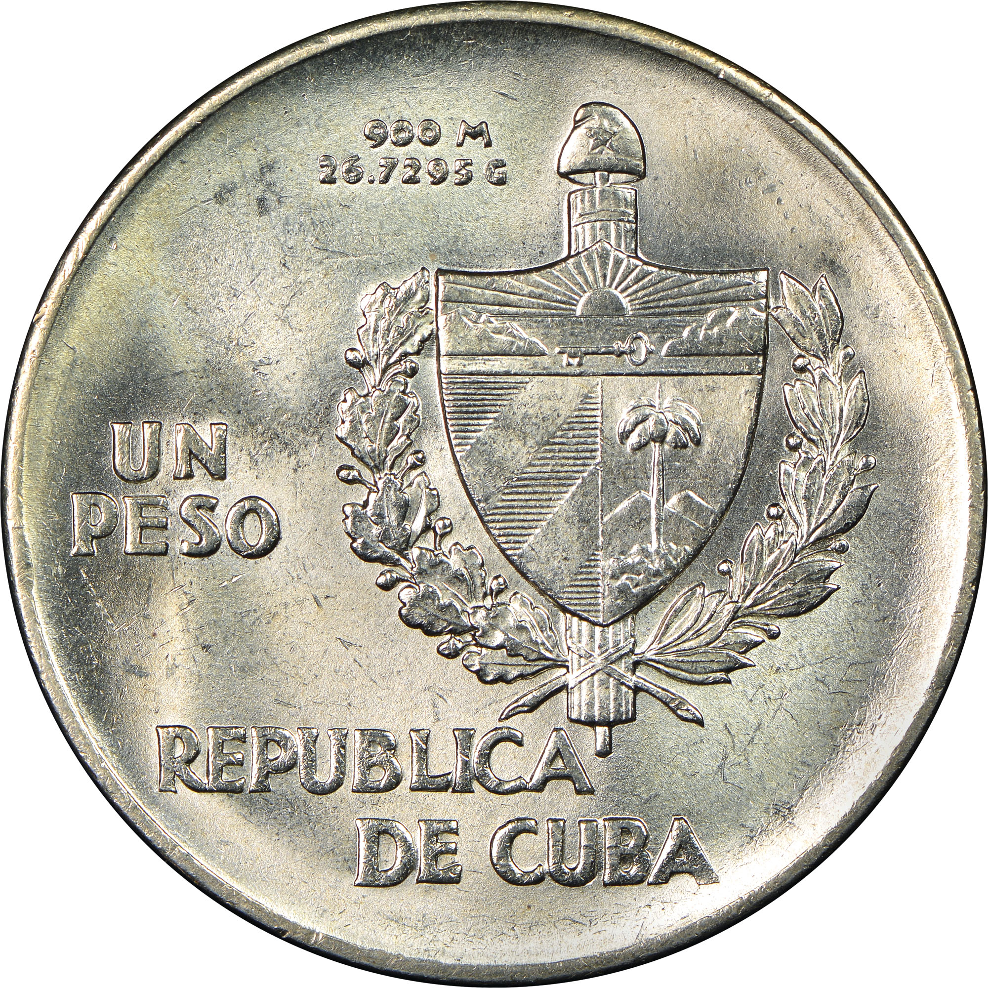 1934-1939 Cuba Peso obverse