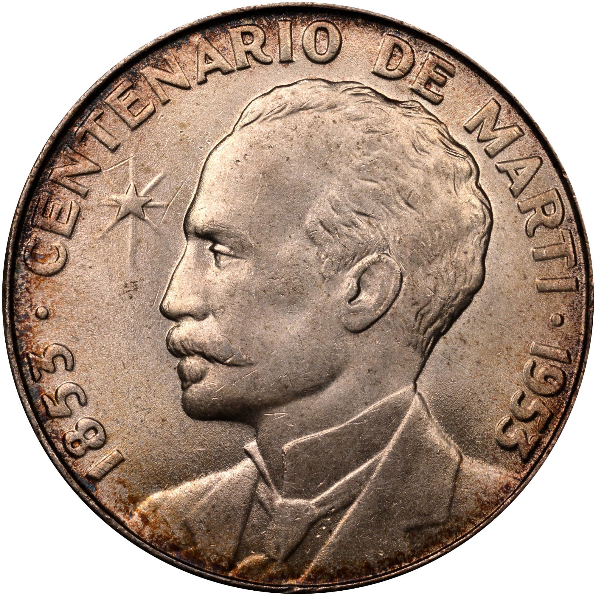 (1953) Cuba Peso reverse