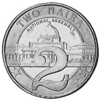 Nigeria 2 Naira KM 19 Prices & Values | NGC