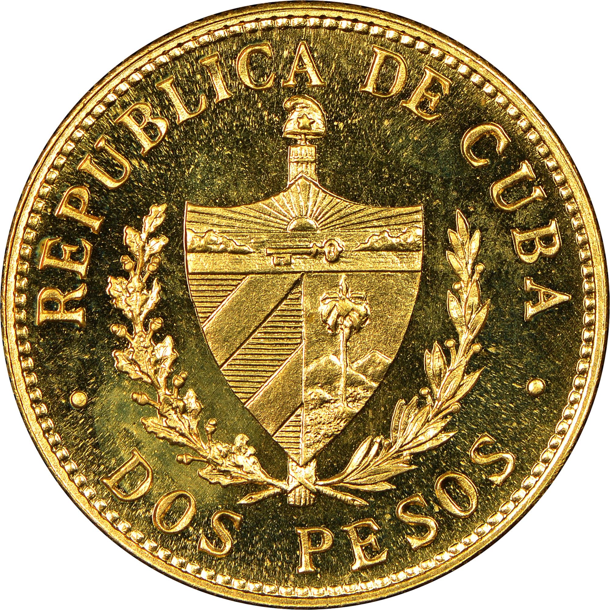 1915-1916 Cuba 2 Pesos reverse