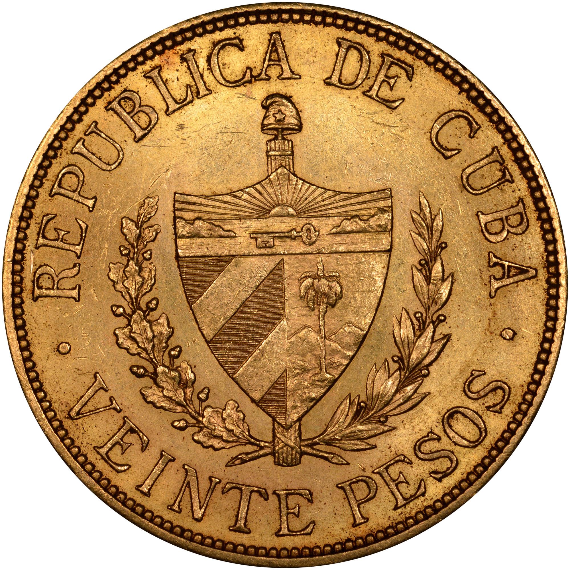 Cuba 20 Pesos reverse