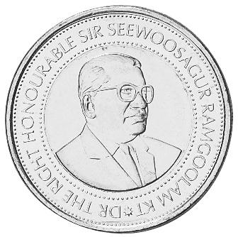 Mauritius 20 Rupees obverse
