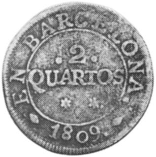 Spain BARCELONA 2 Quartos obverse