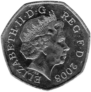 Great Britain 50 Pence obverse