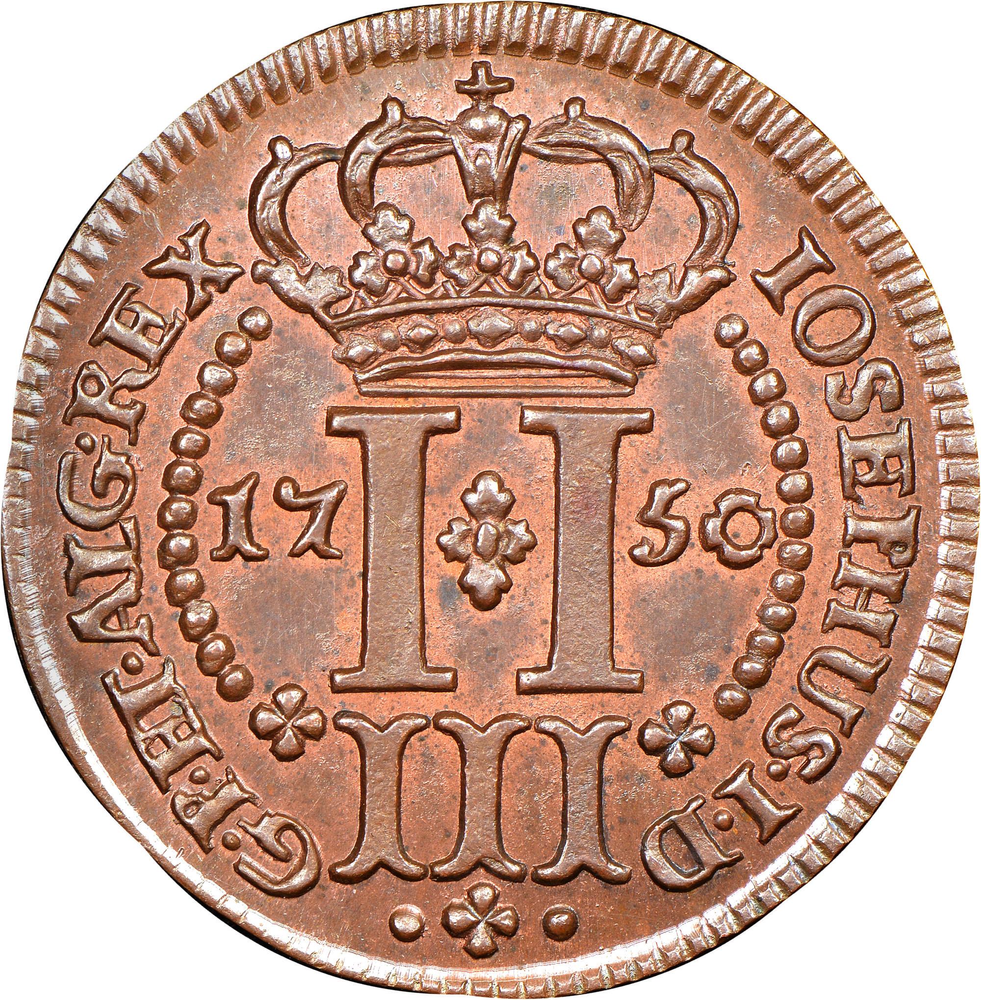 Azores 3 Reis reverse