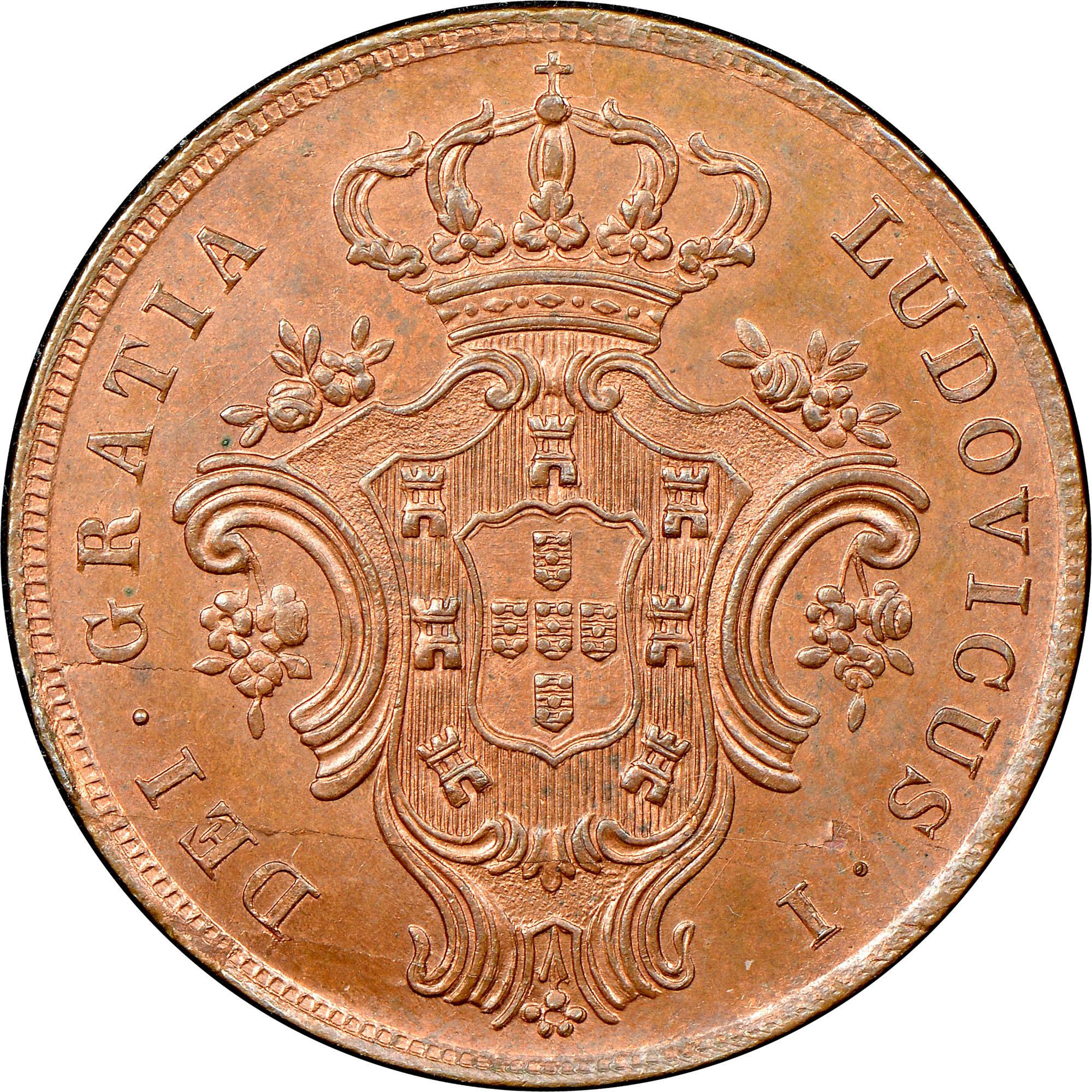 Azores 10 Reis obverse