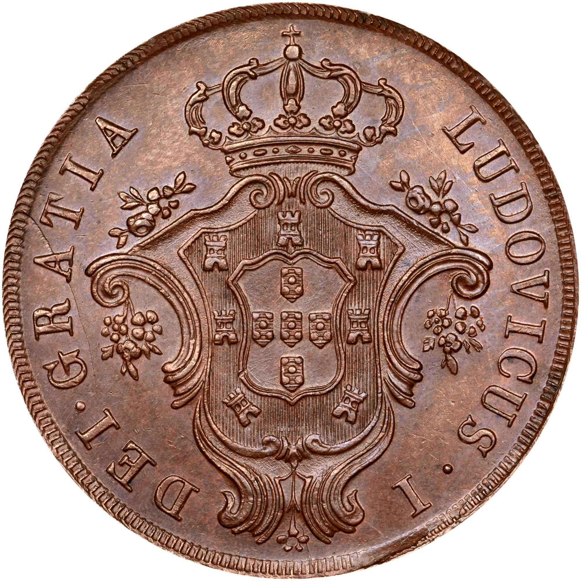 1865-1866 Azores 20 Reis obverse