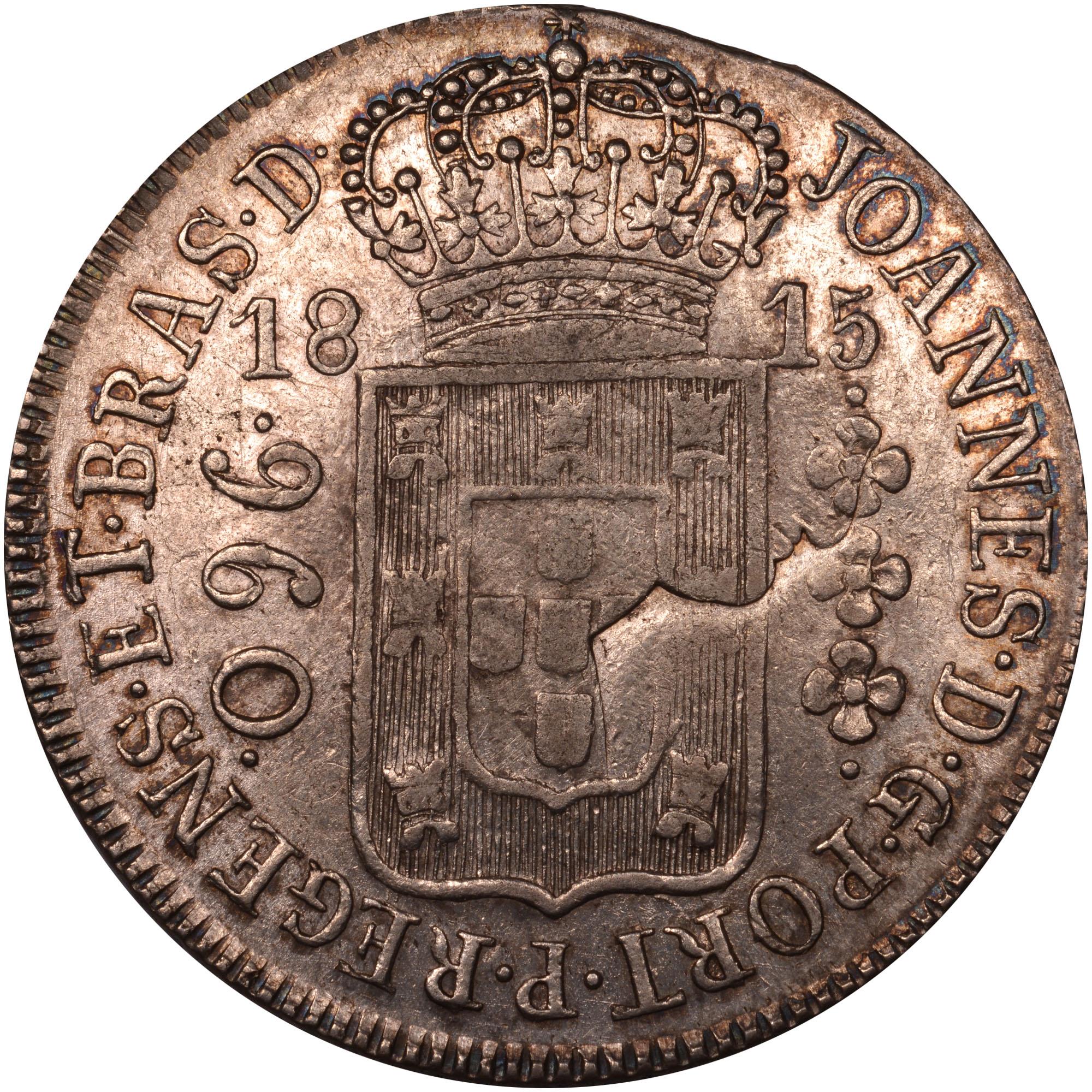 1810-1818 Brazil 960 Reis obverse