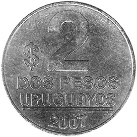 Uruguay 2 Pesos Uruguayos reverse