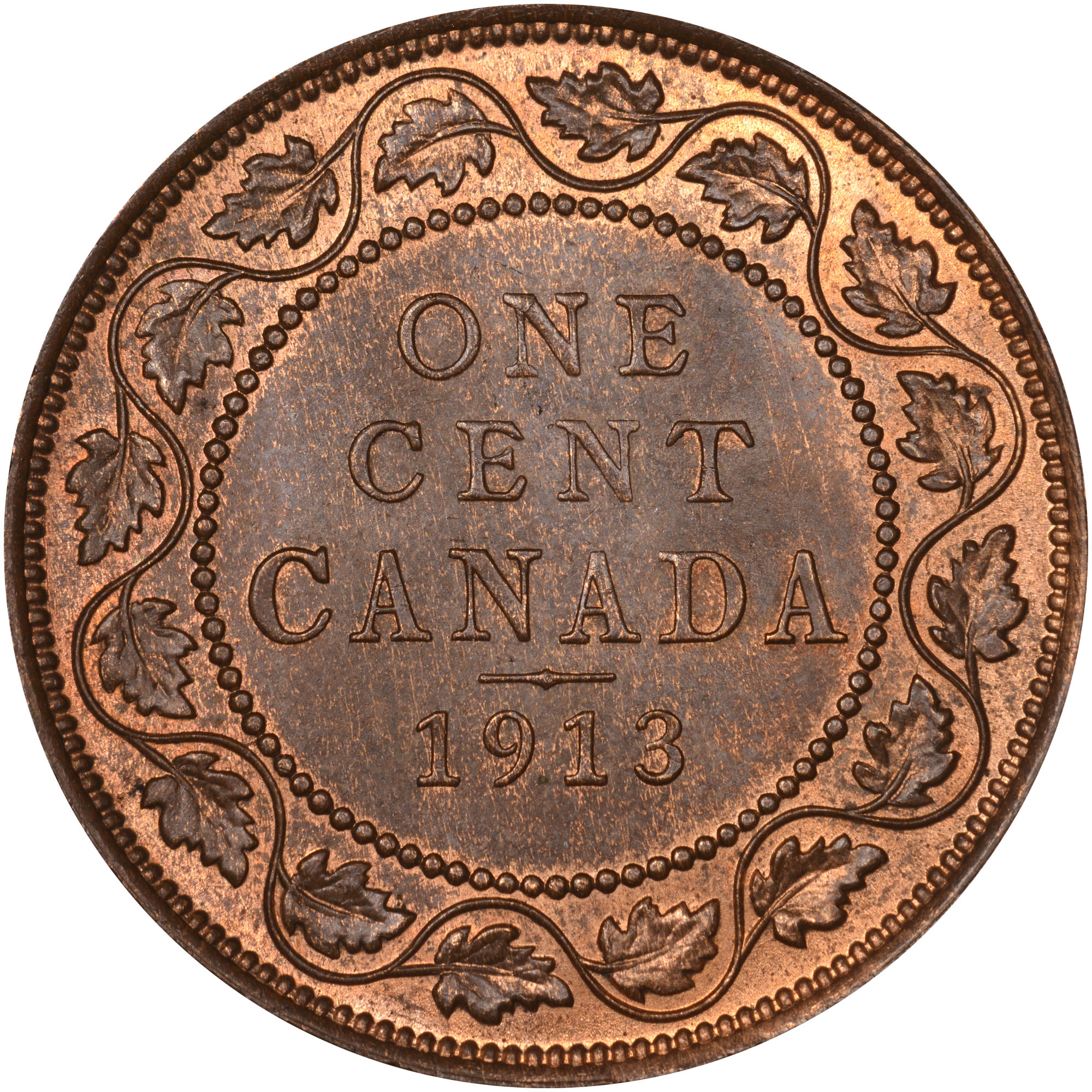 1912-1920 Canada Cent reverse