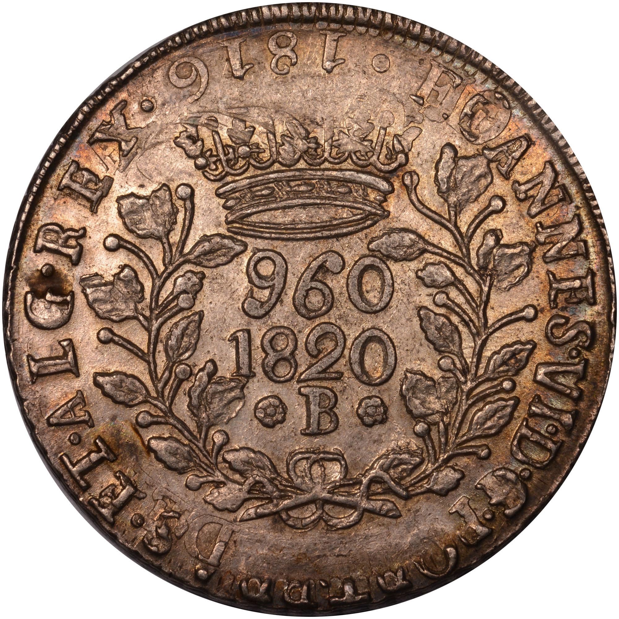1819-1920 Brazil 960 Reis obverse