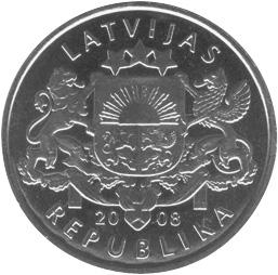 Latvia Lats obverse