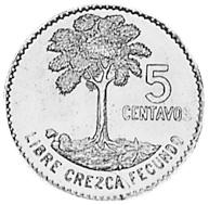 Guatemala 5 Centavos reverse