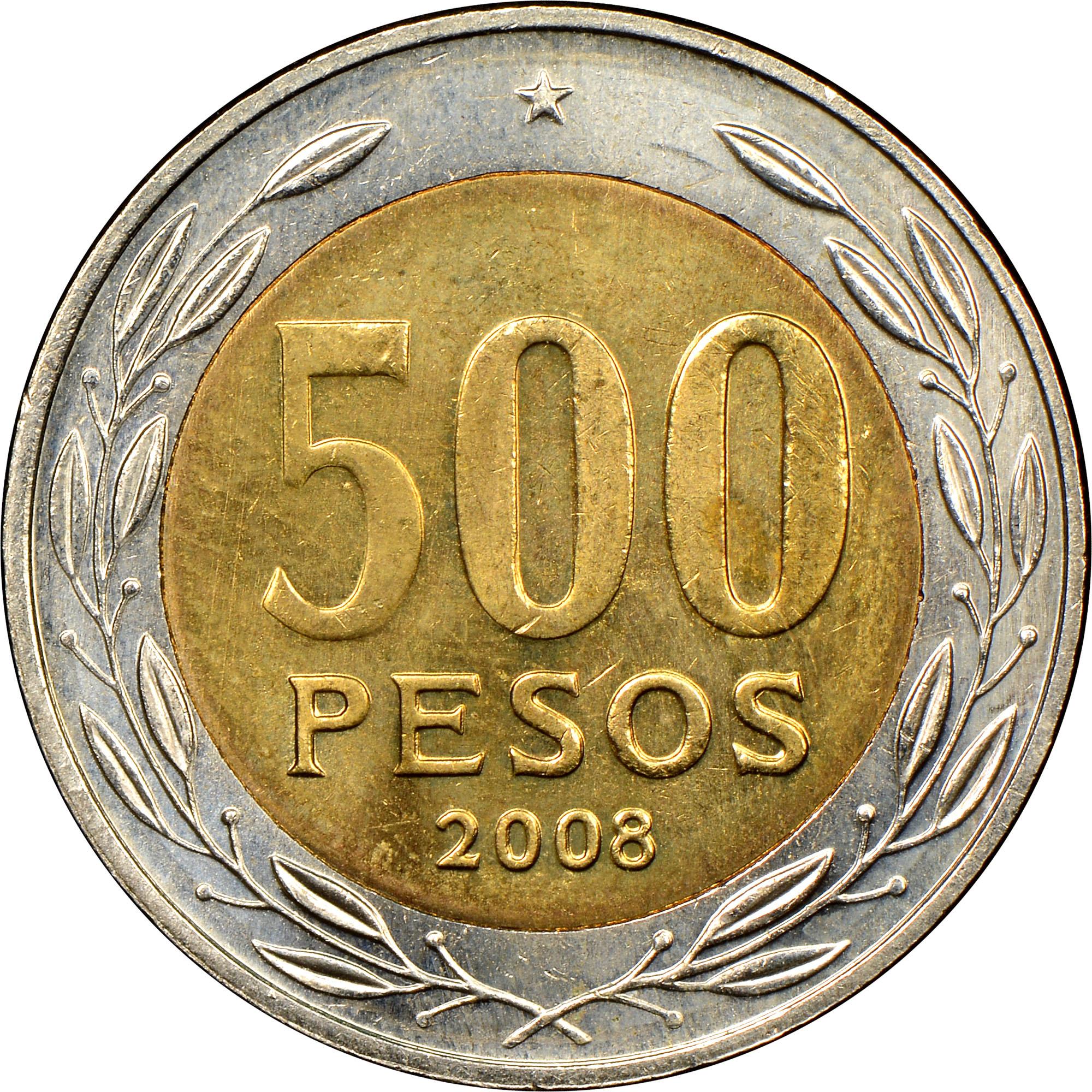 Chile 500 Pesos reverse
