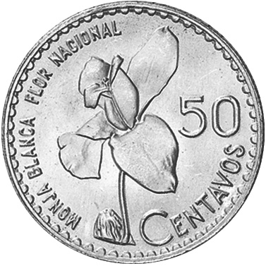 1962-1963/2 Guatemala 50 Centavos reverse