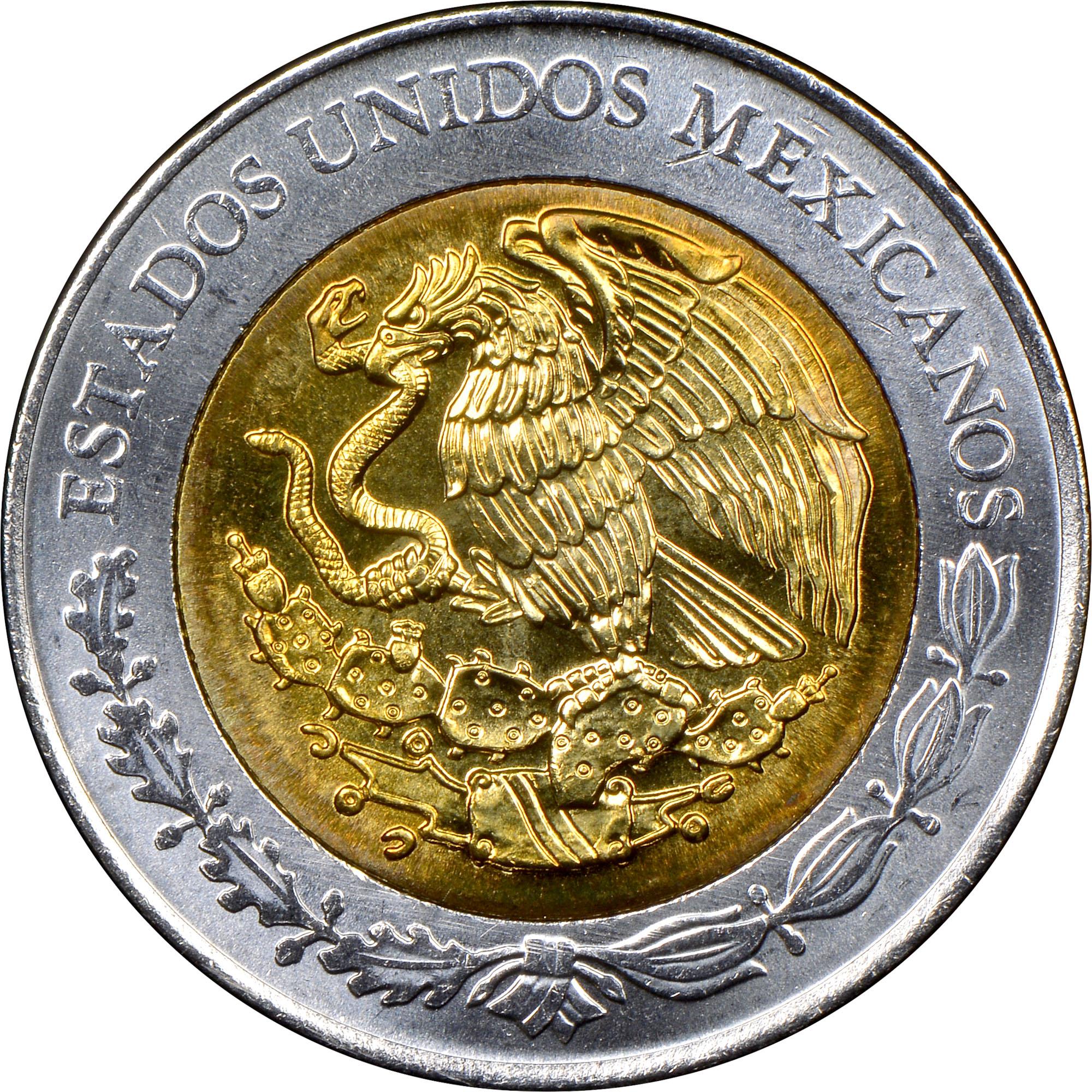 mexico estados unidos mexicanos 5 pesos km 923 prices values ngc. Black Bedroom Furniture Sets. Home Design Ideas