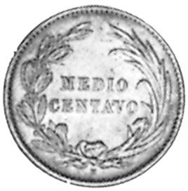 Ecuador 1/2 Centavo reverse