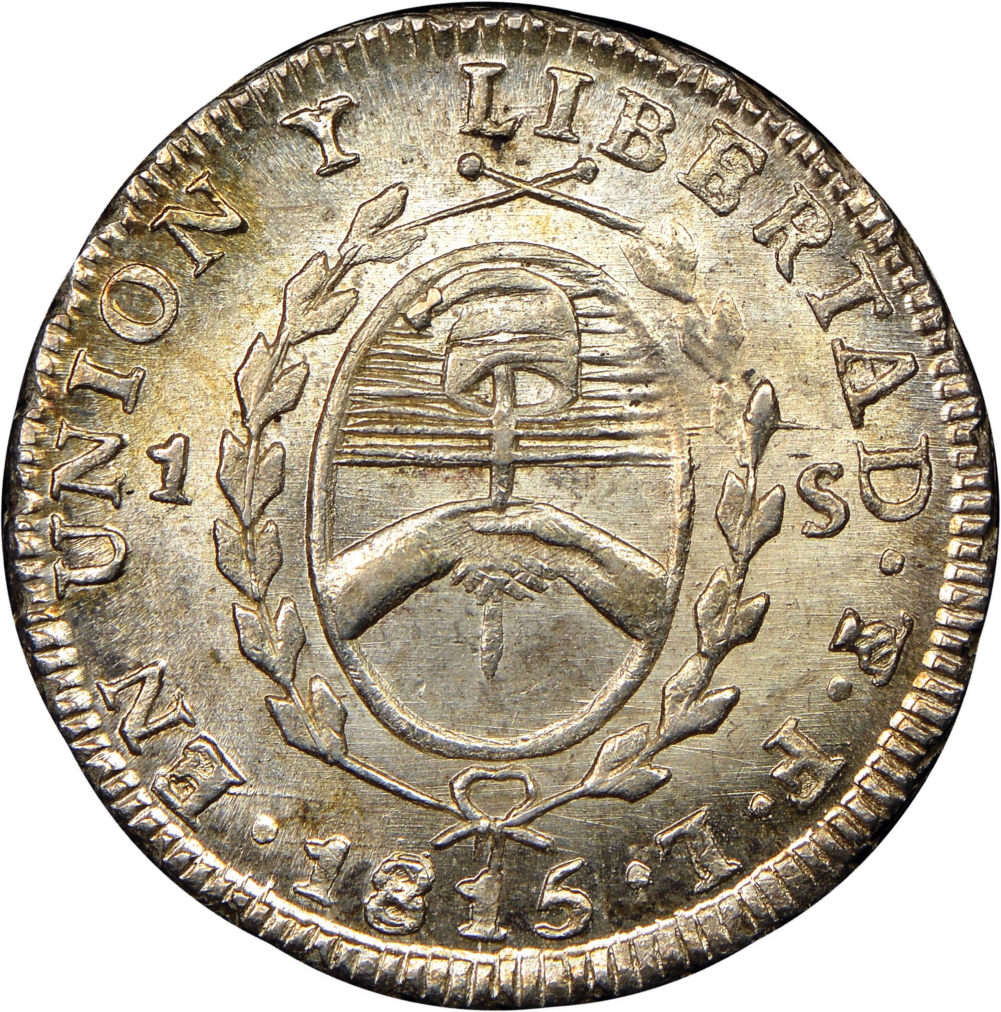1815 Argentina Sol reverse