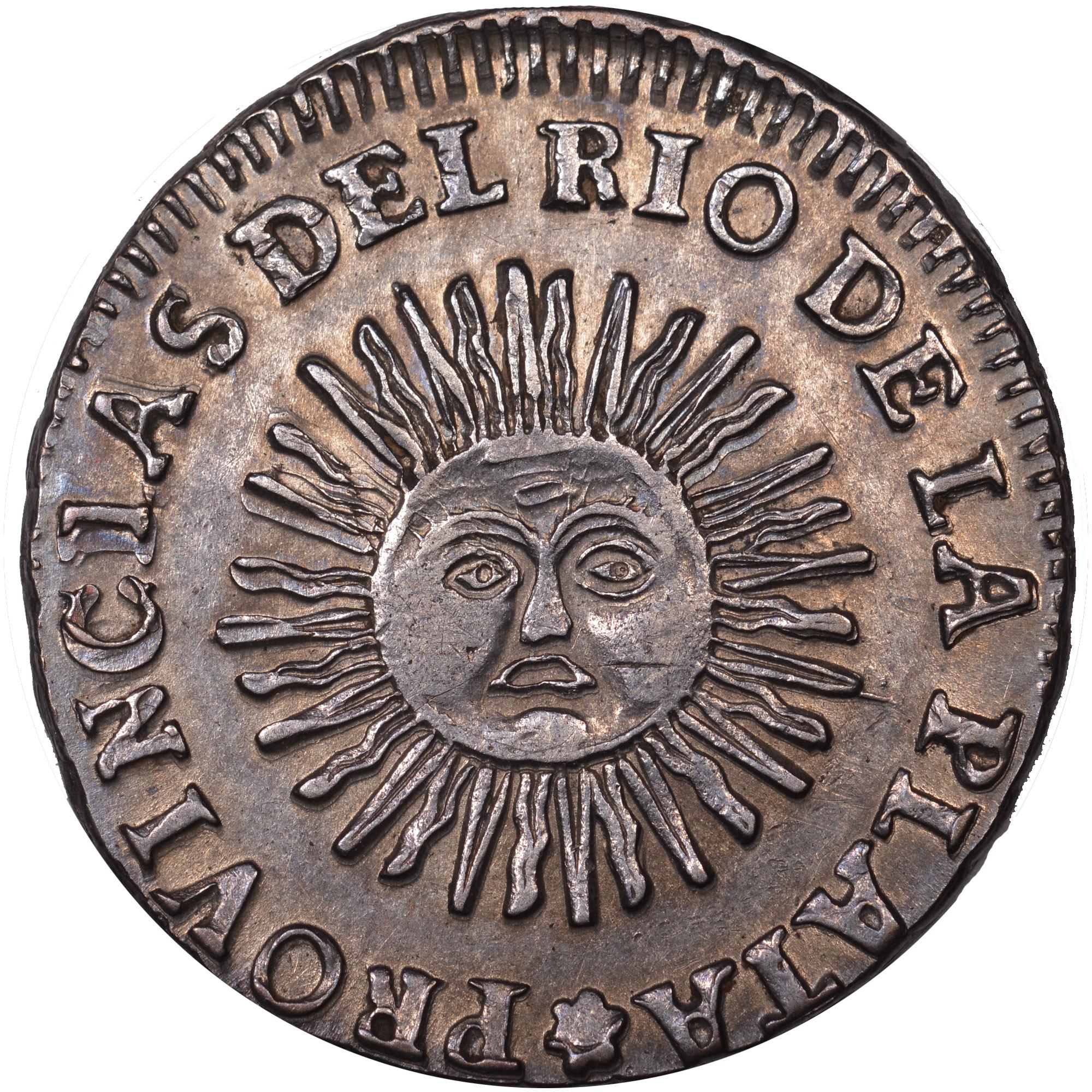 1824-1826/5 Argentina 2 Soles obverse