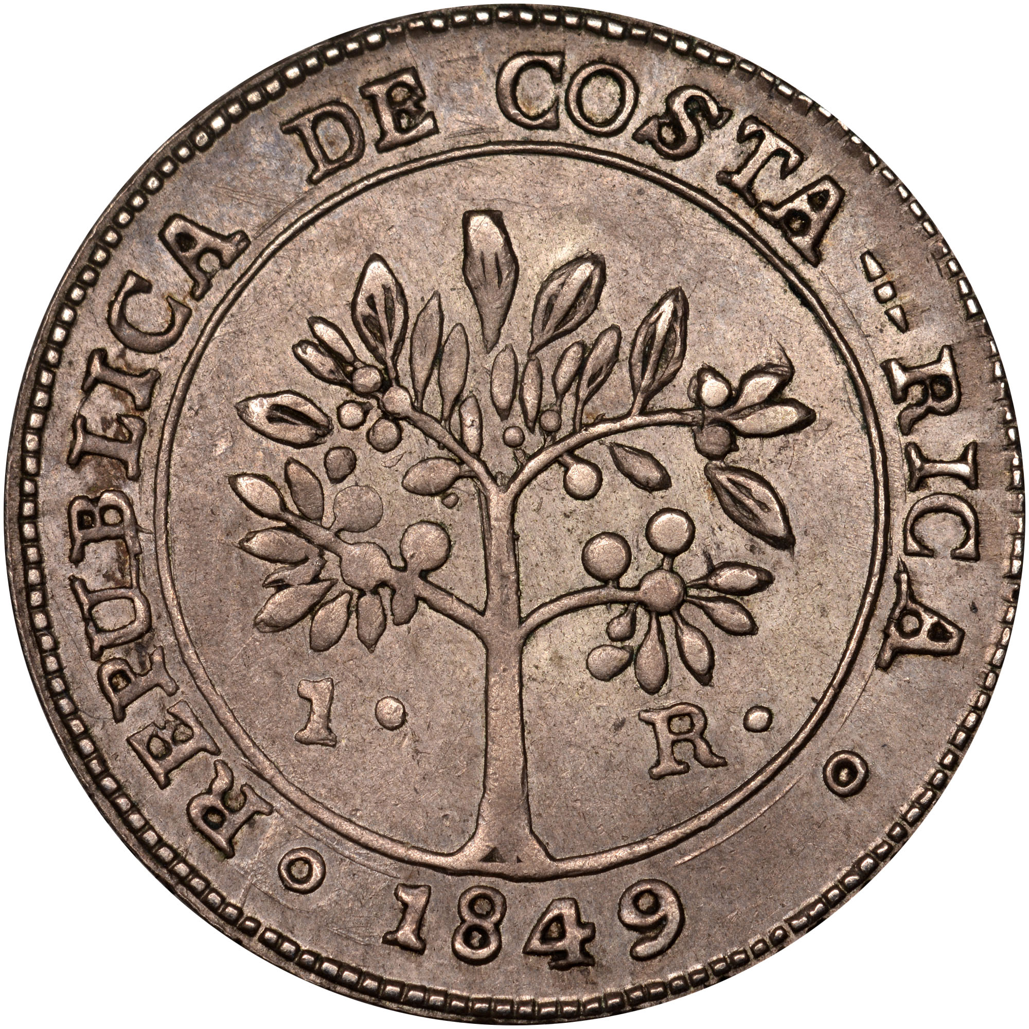 1849-1850 Costa Rica Real obverse