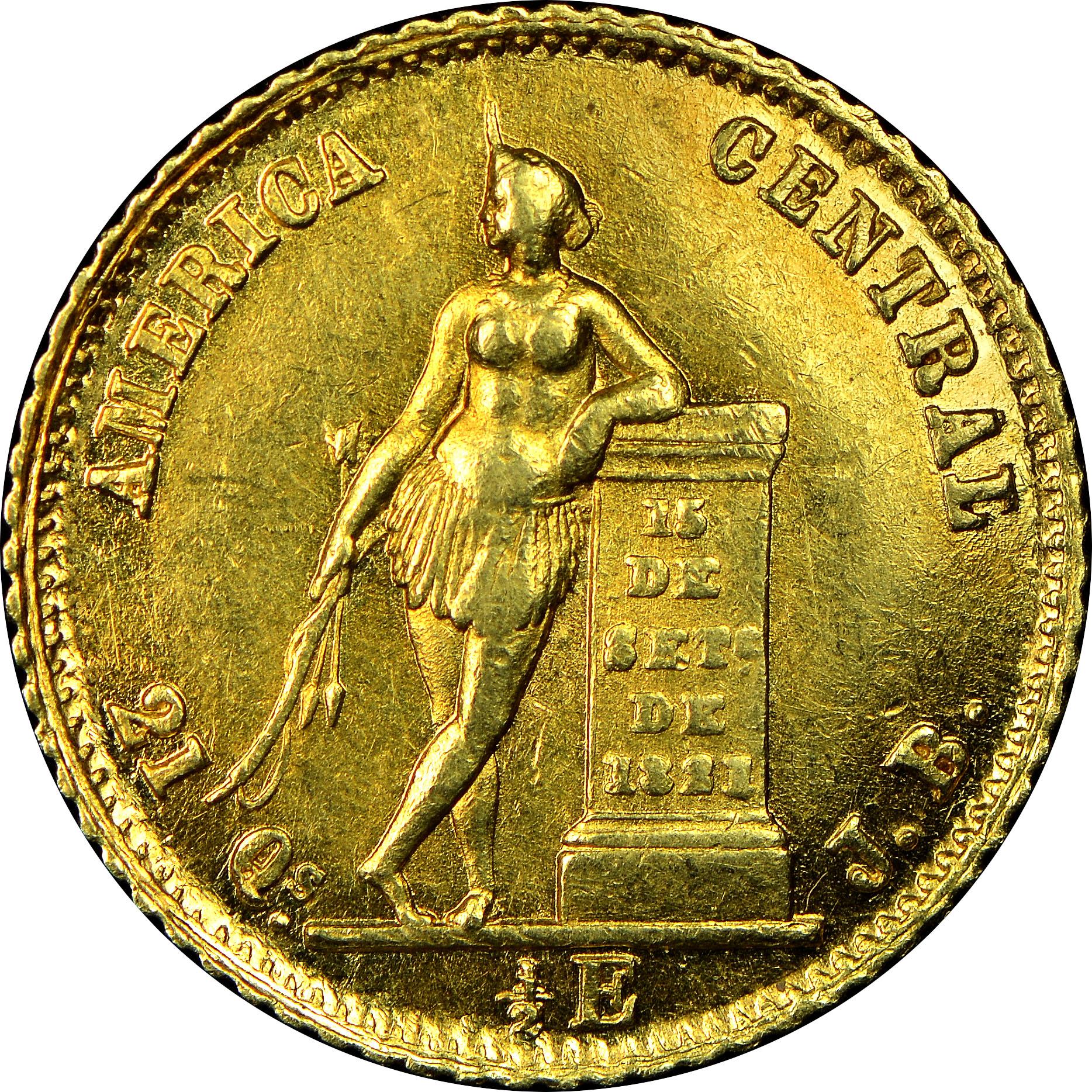 1850-1864 Costa Rica 1/2 Escudo reverse