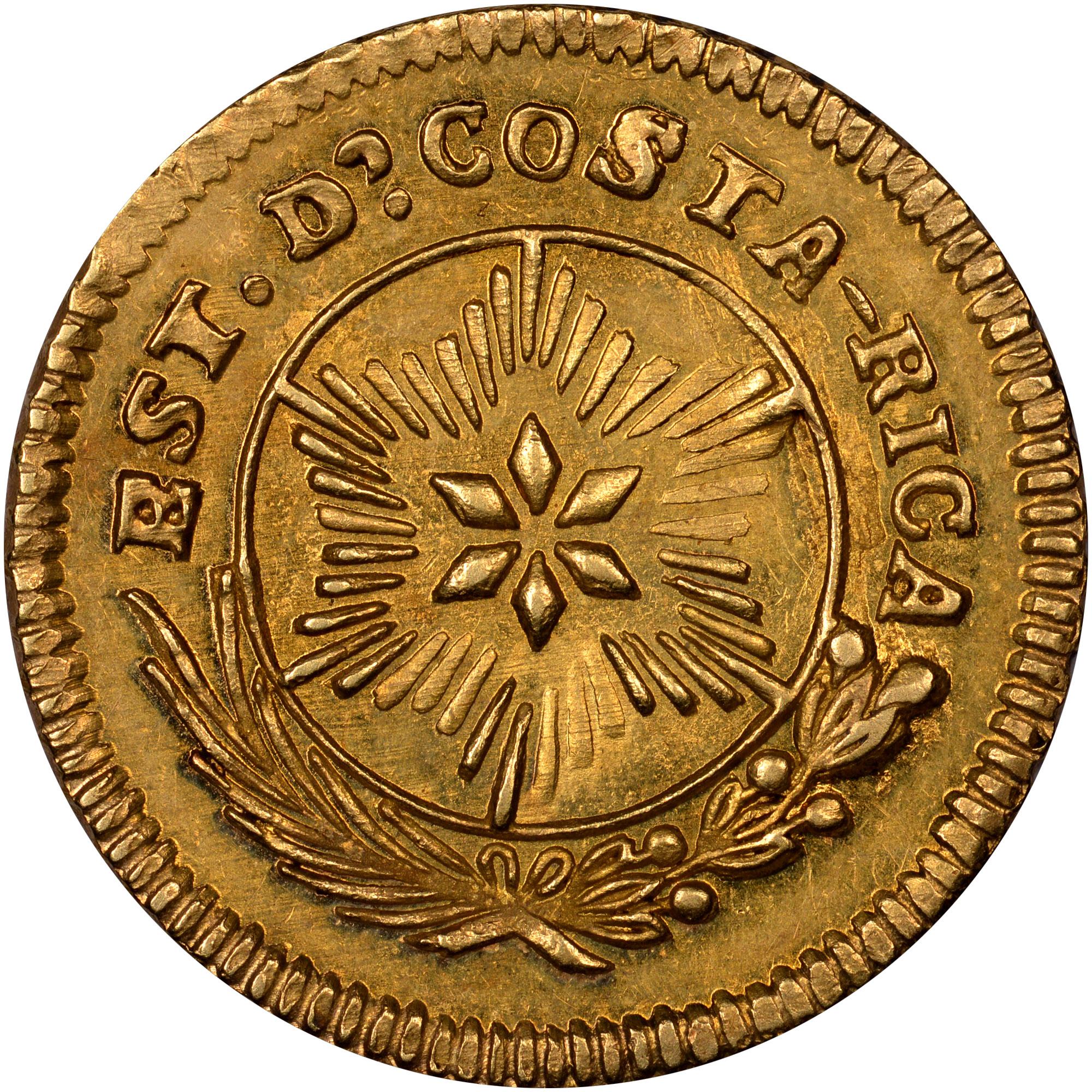 1842 Costa Rica Escudo obverse