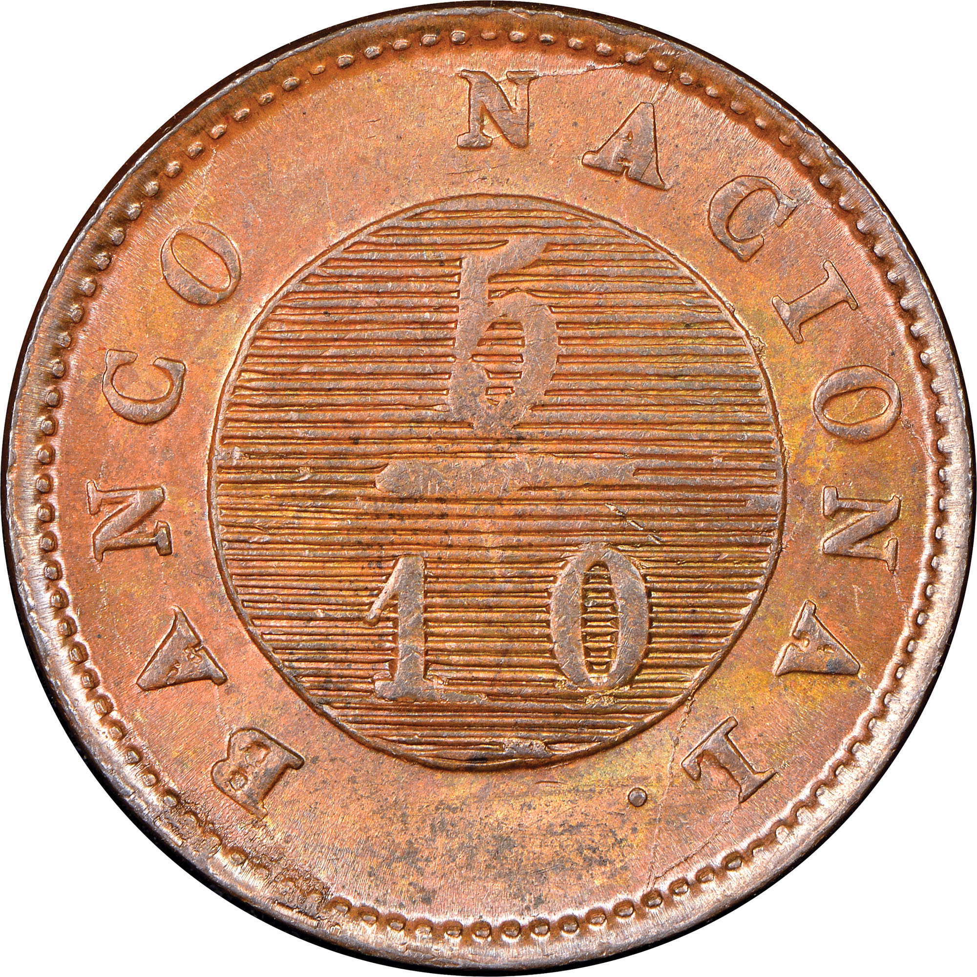 1.831-1831/27 Argentina BUENOS AIRES 5/10 Real reverse