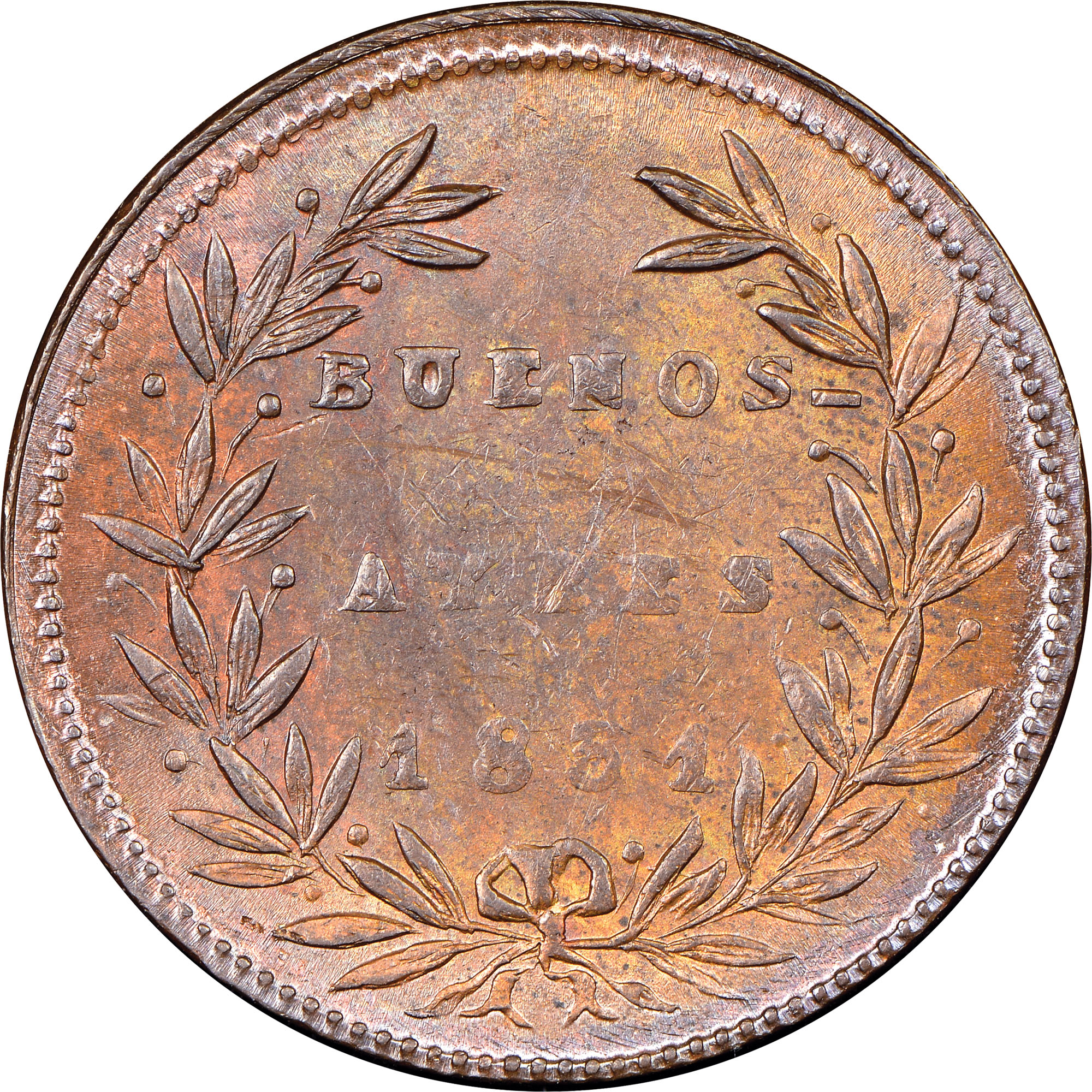 1.831-1831/27 Argentina BUENOS AIRES 5/10 Real obverse