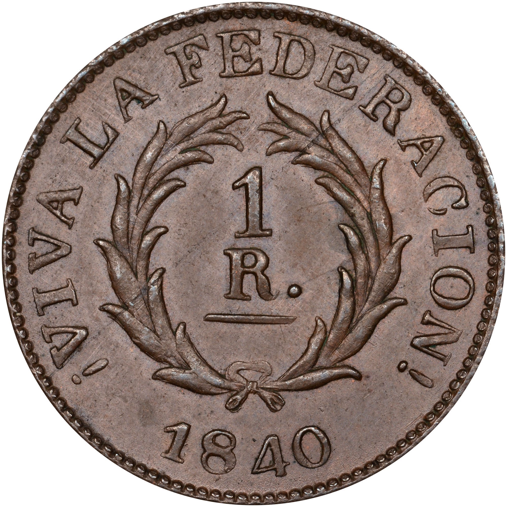 1840 Argentina BUENOS AIRES Real obverse