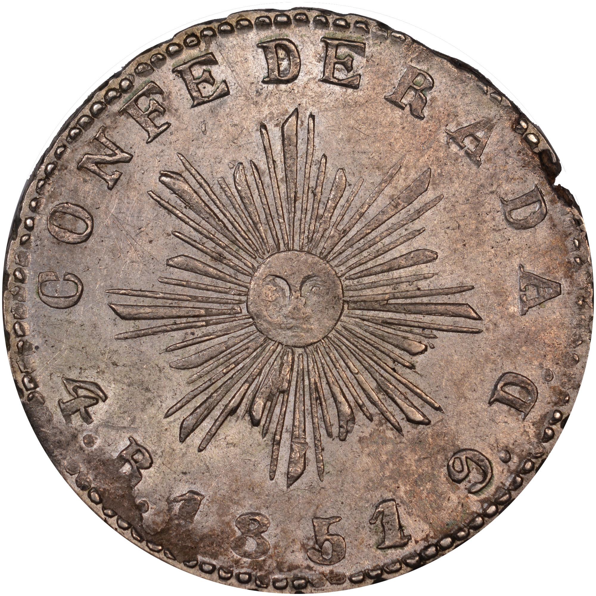 1846-1851 Argentina CORDOBA 4 Reales reverse