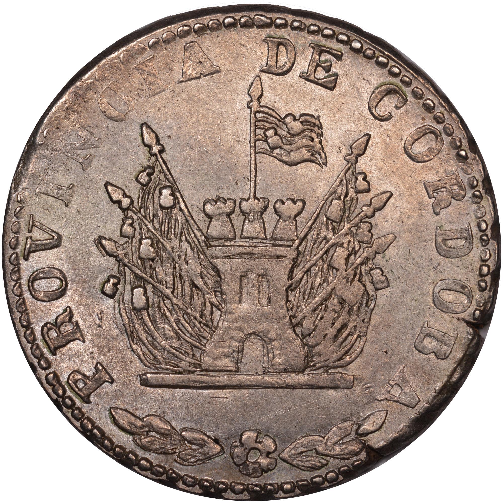 1846-1851 Argentina CORDOBA 4 Reales obverse