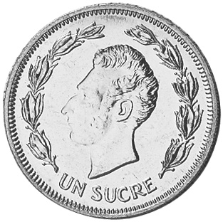1986 Ecuador Sucre, Un reverse