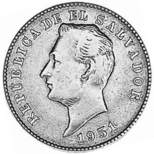 1921-1972 El Salvador 10 Centavos obverse