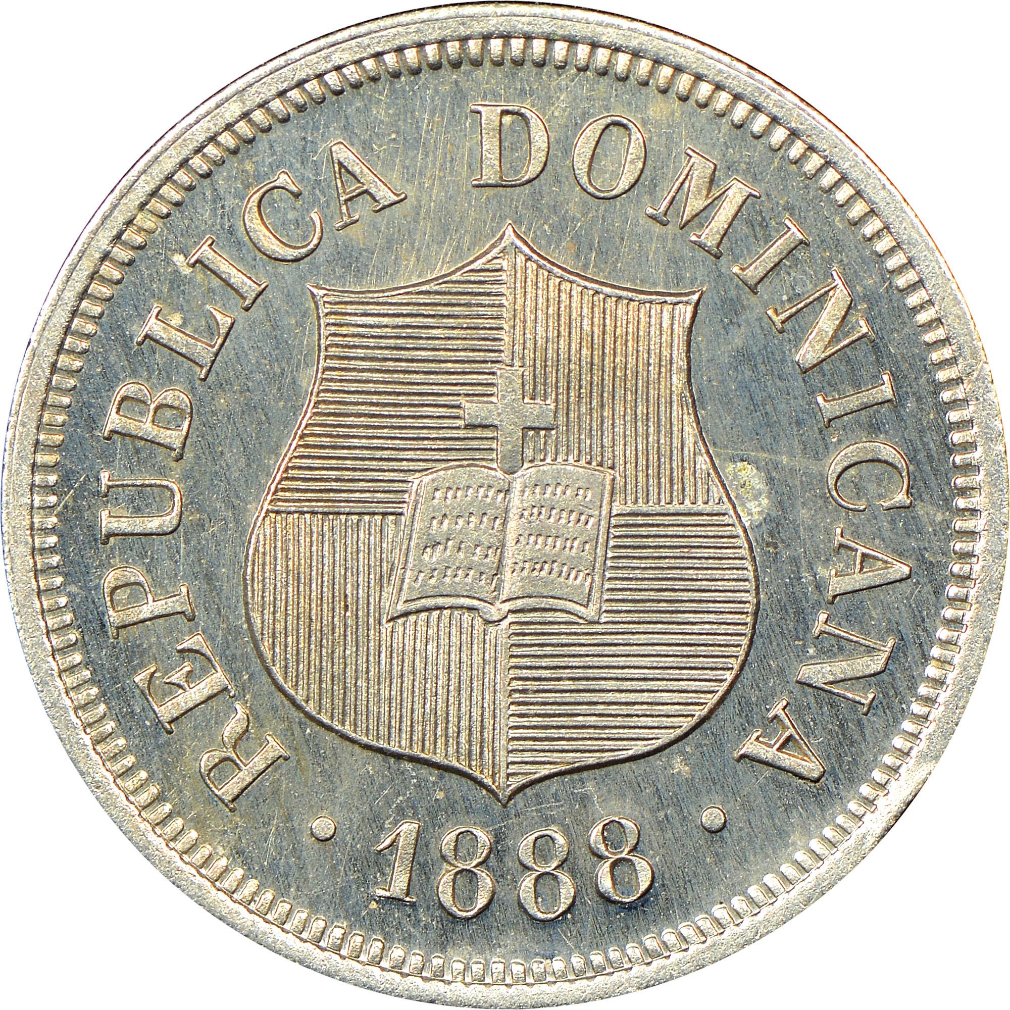 Dominican Republic 1-1/4 Centavos obverse
