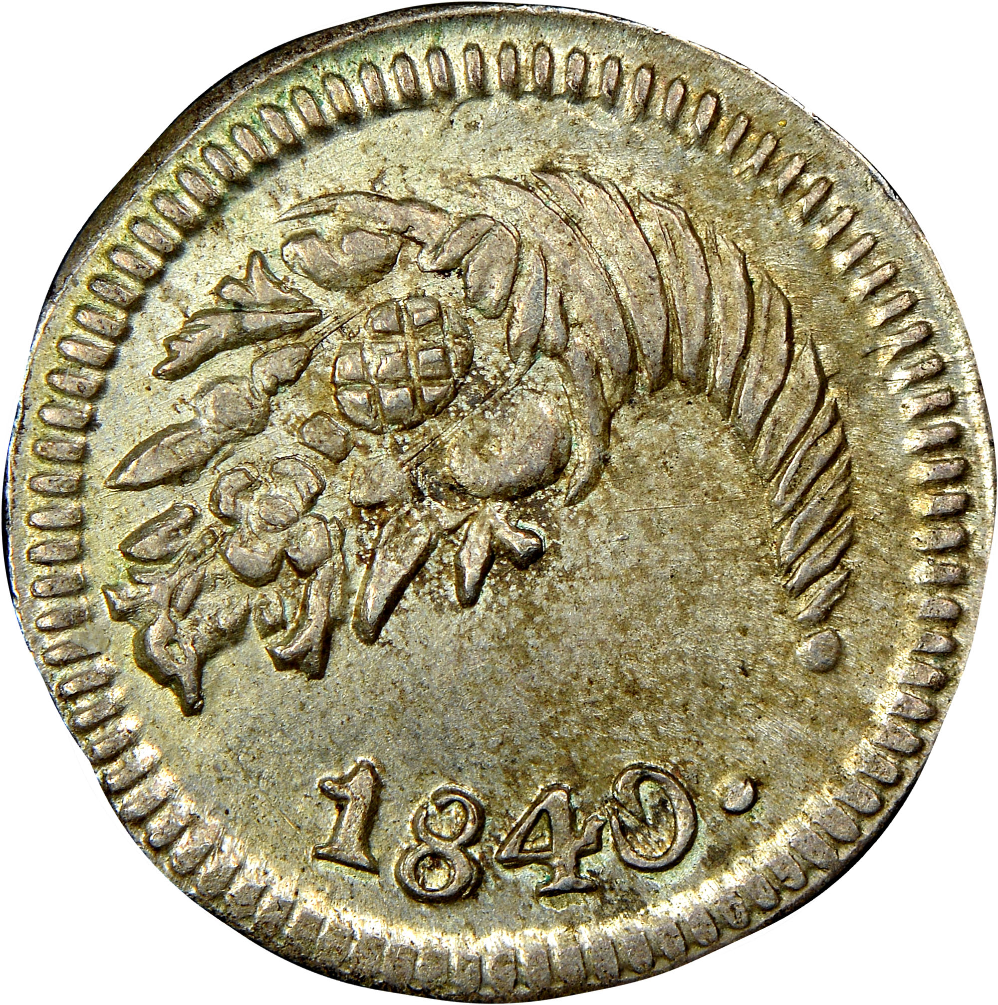 1837-1848 Colombia 1/4 Real obverse