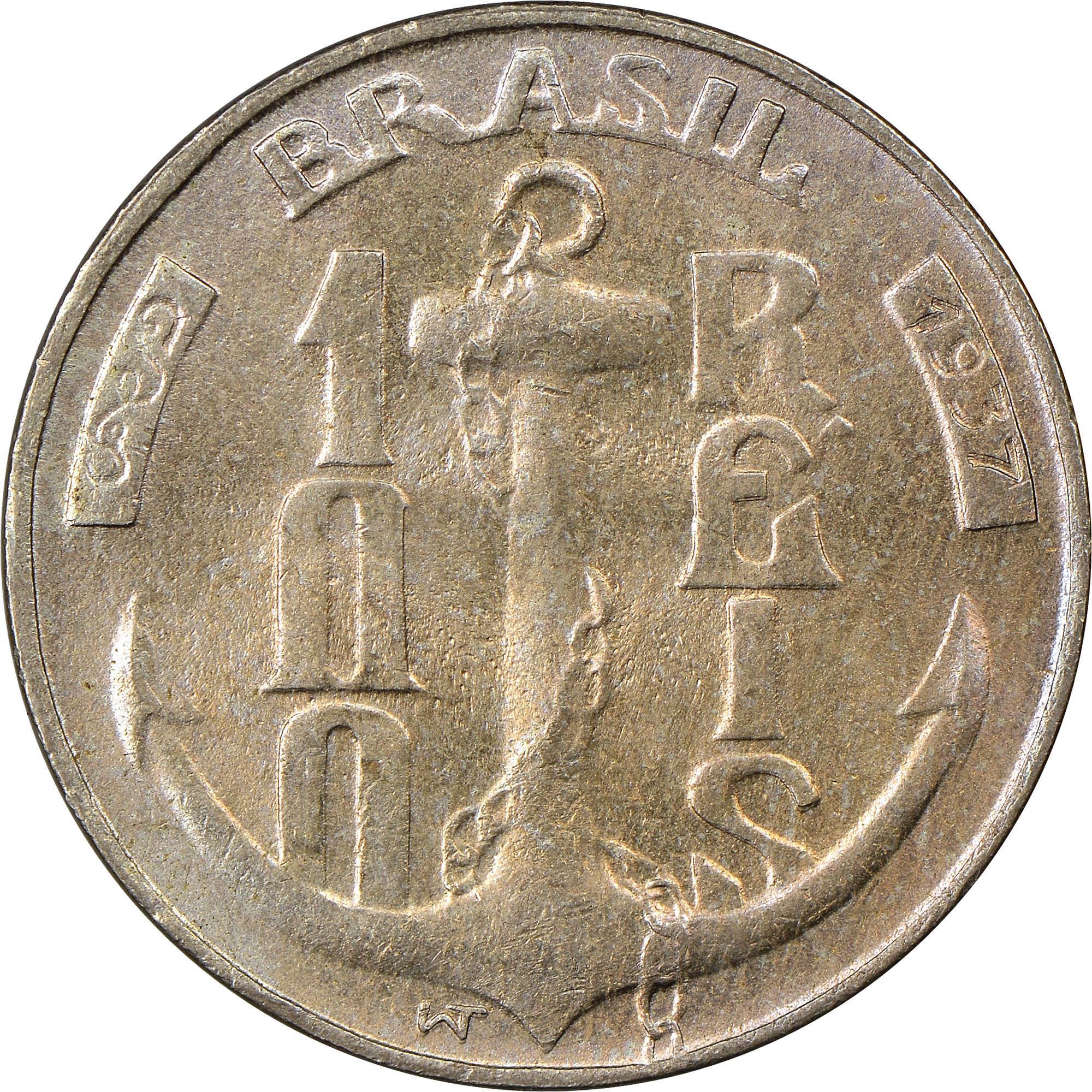 Brazil 100 Reis obverse