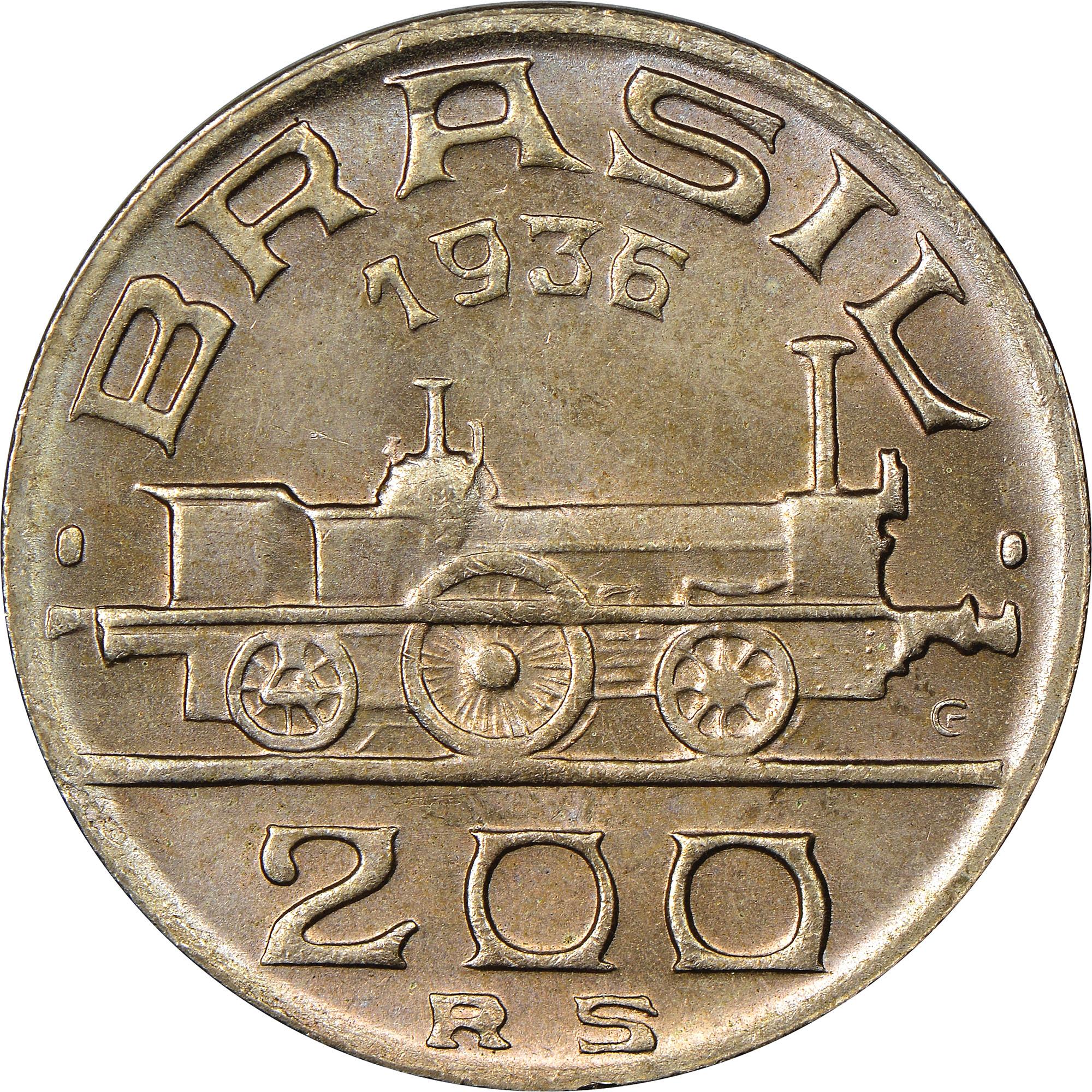 Brazil 200 Reis obverse
