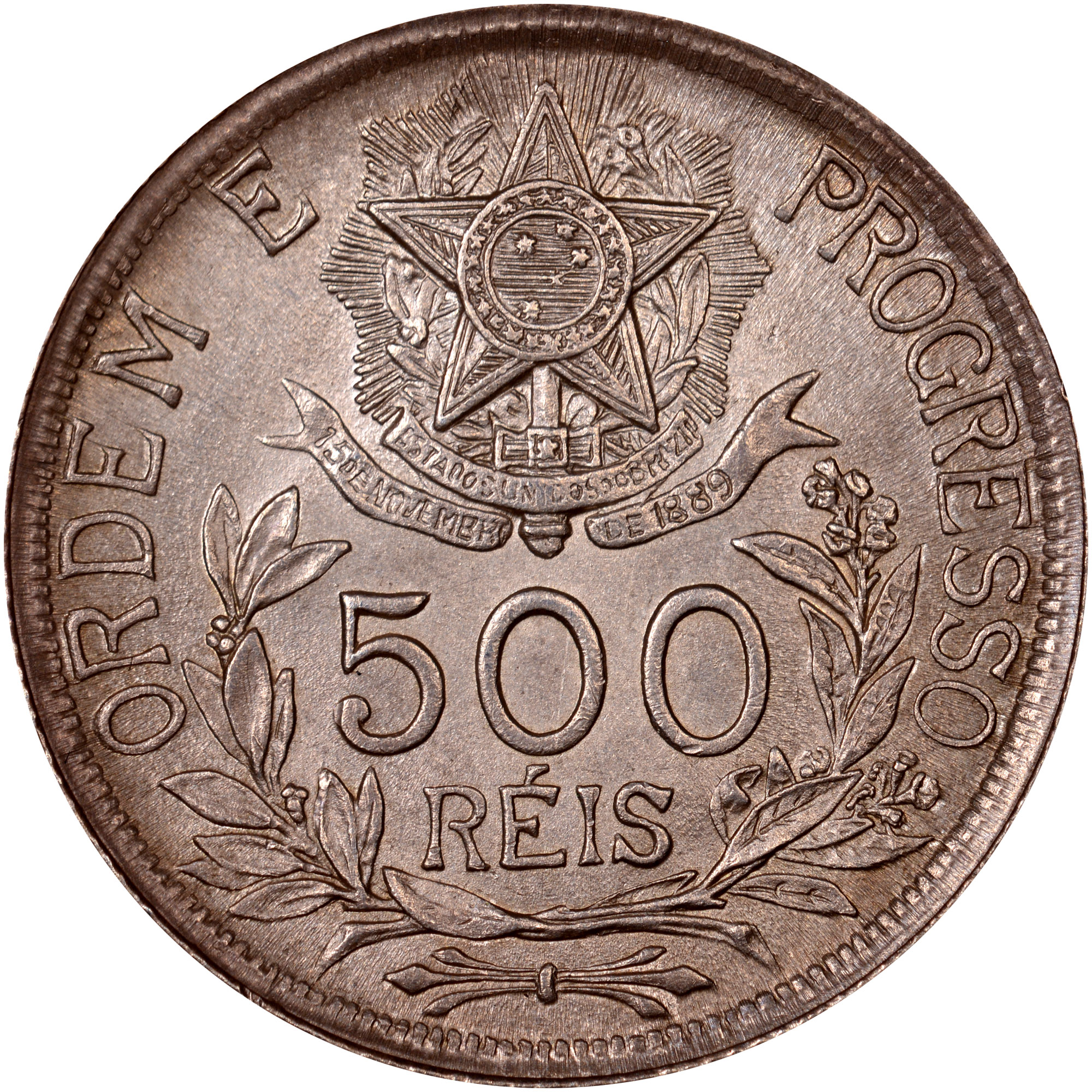 1912 Brazil 500 Reis reverse