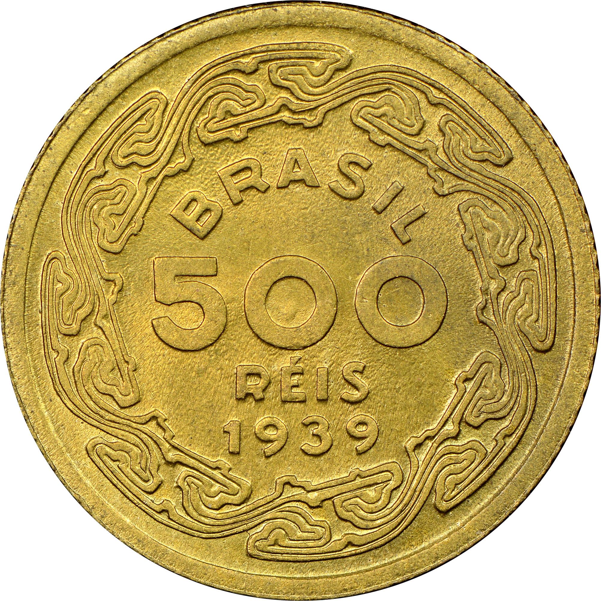 1939 Brazil 500 Reis obverse