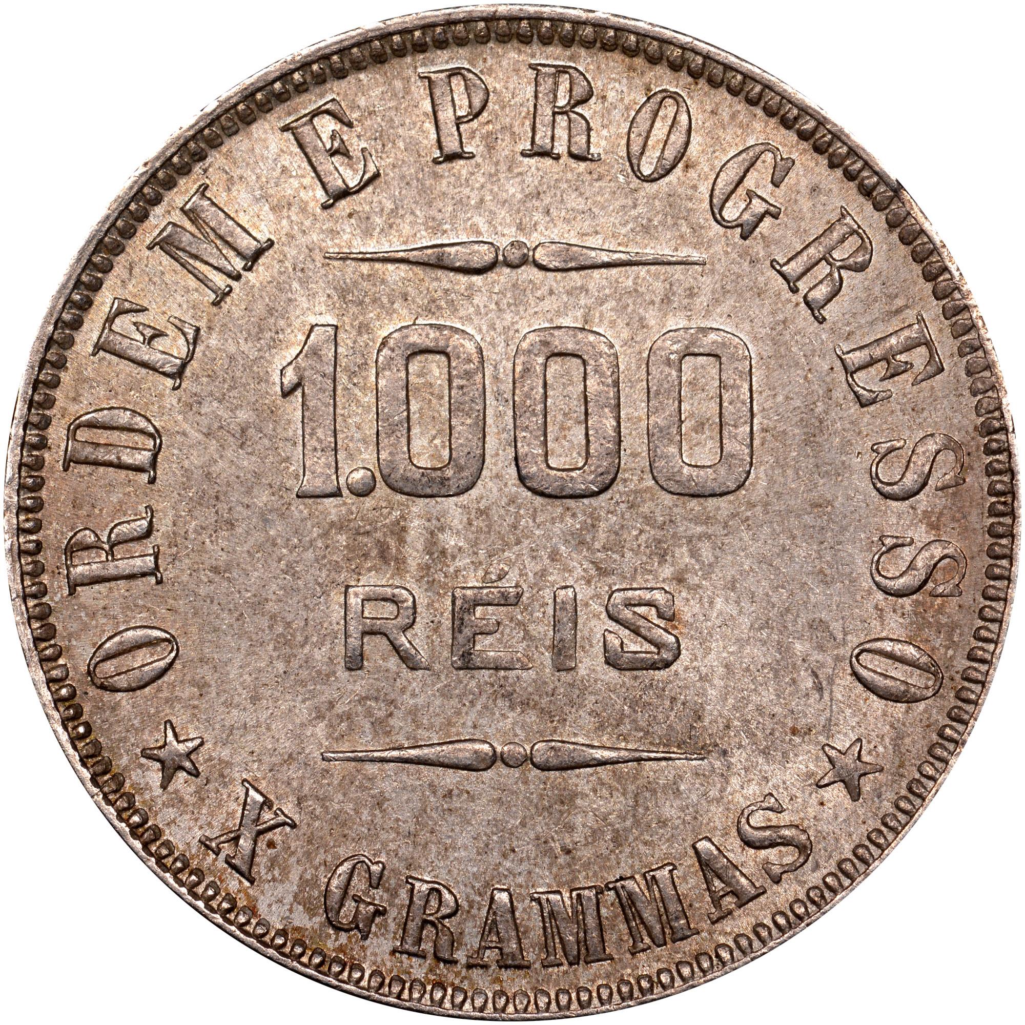 1906-1912 Brazil 1000 Reis reverse