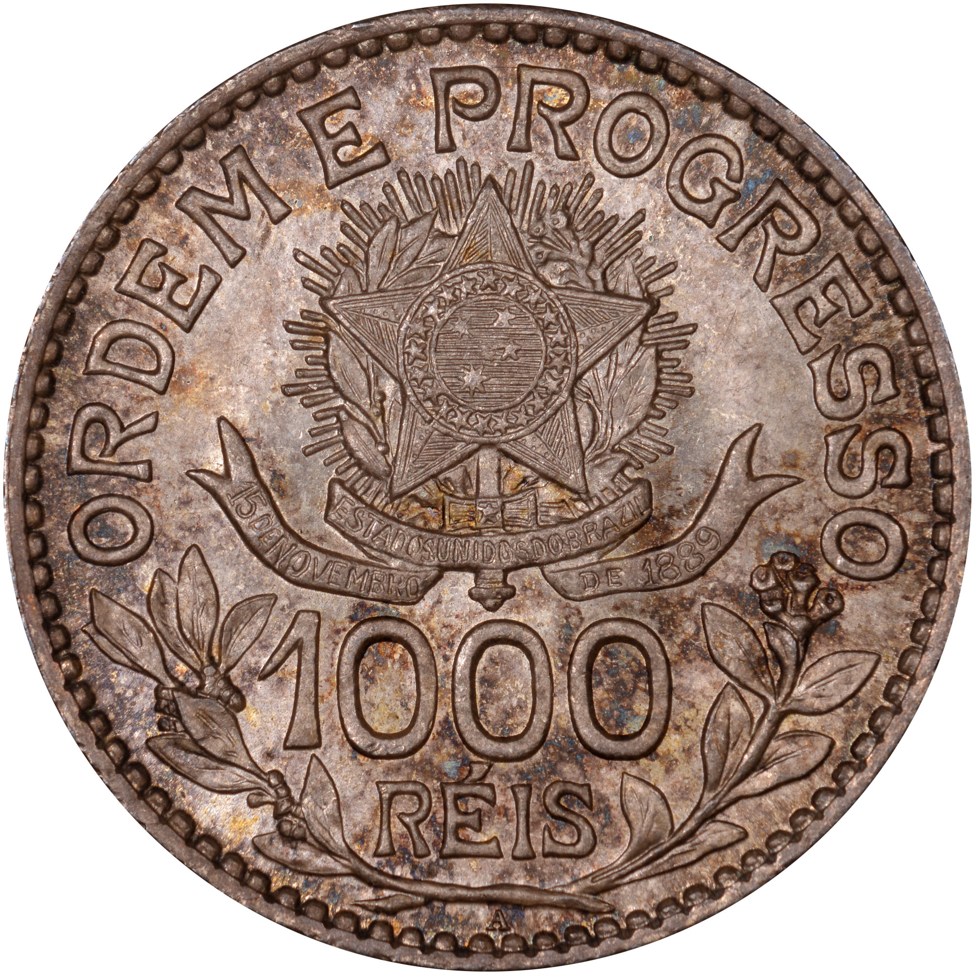 1913 Brazil 1000 Reis reverse