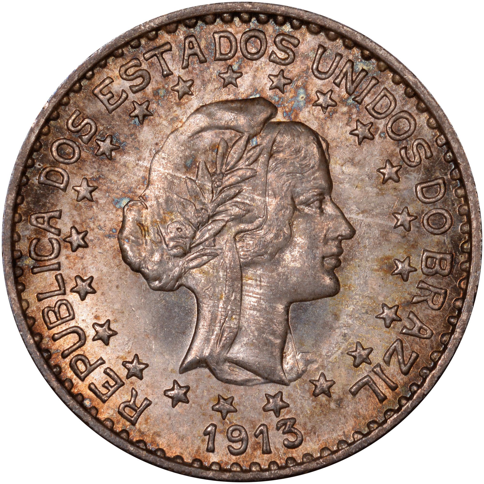 1913 Brazil 1000 Reis obverse