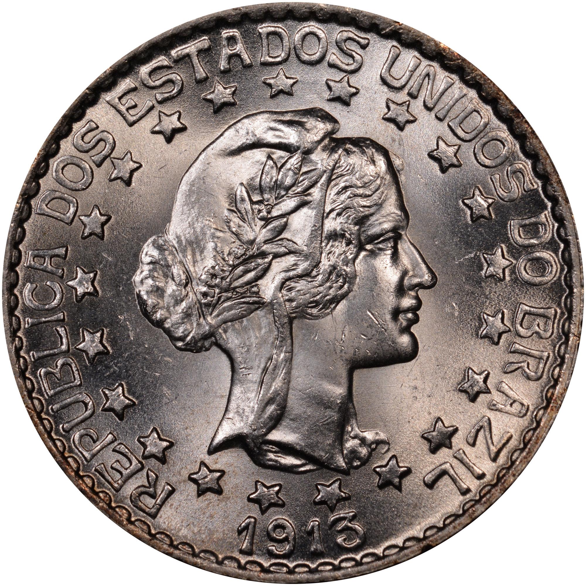 1913 Brazil 2000 Reis obverse