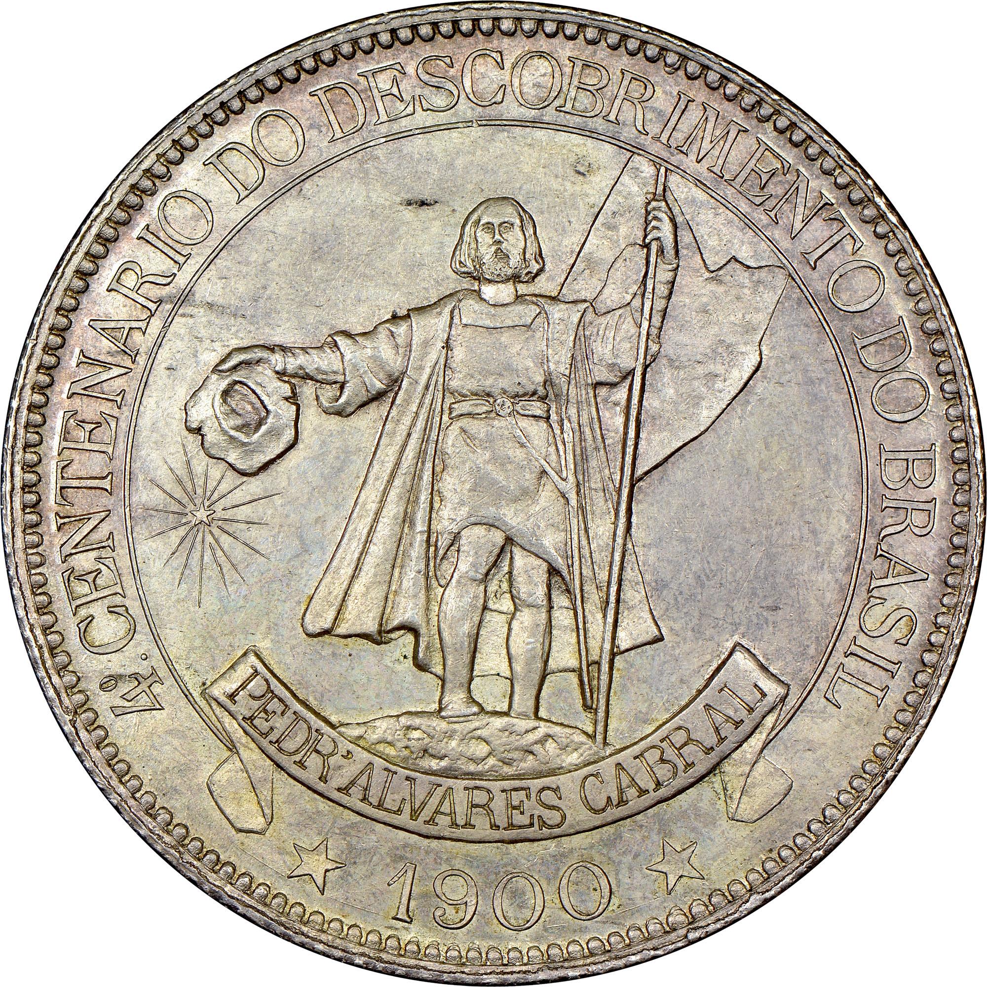 1900 Brazil 4000 Reis reverse