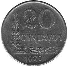 Brazil 20 Centavos reverse