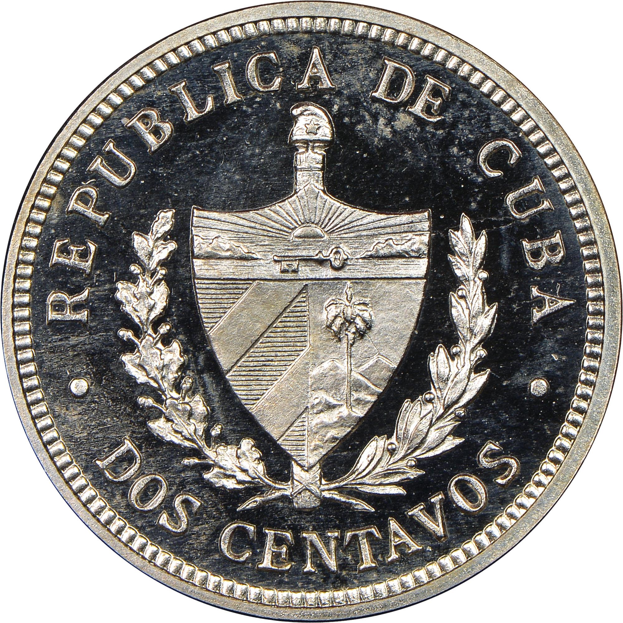 1915-1916 Cuba 2 Centavos obverse