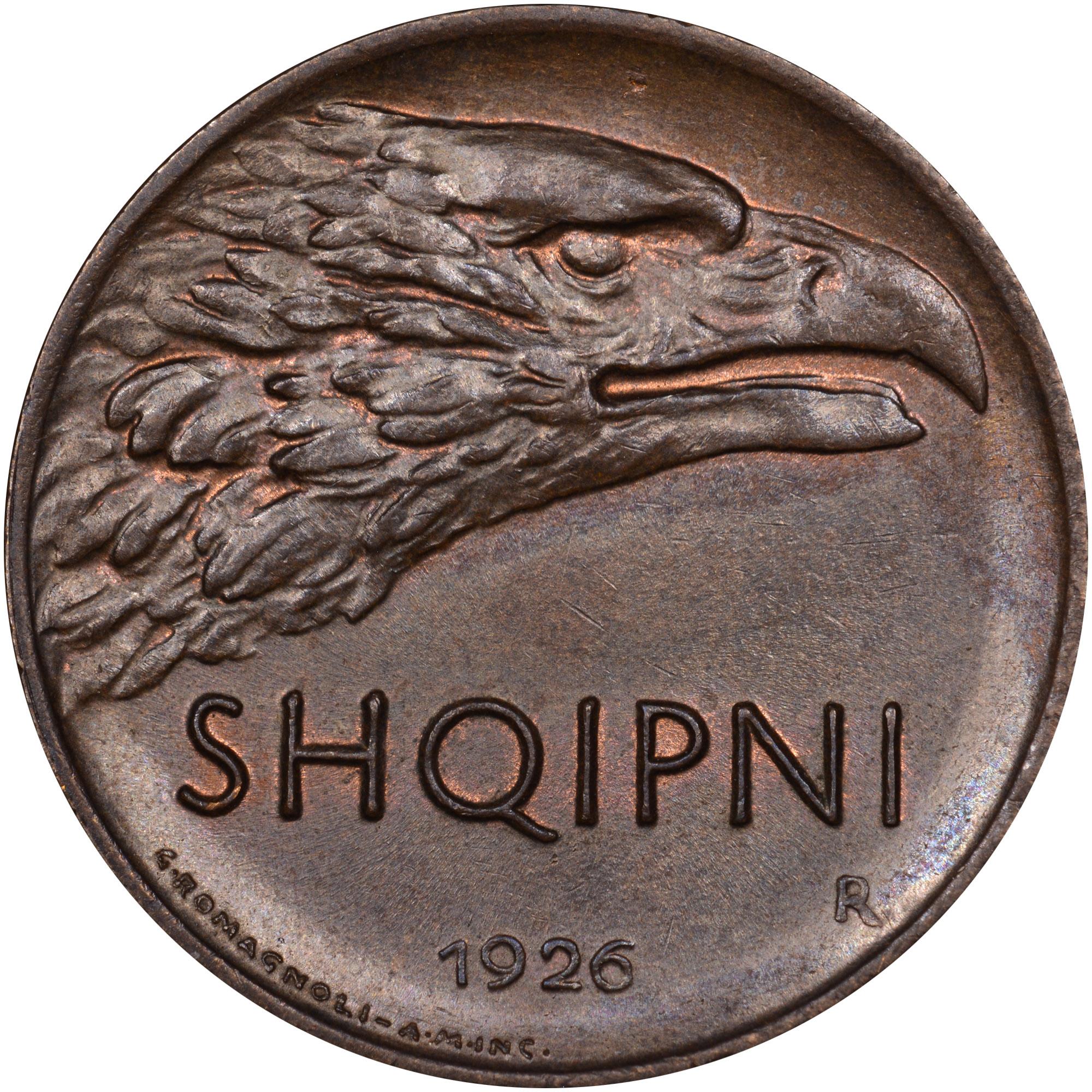 1926 Albania 10 Qindar Leku obverse