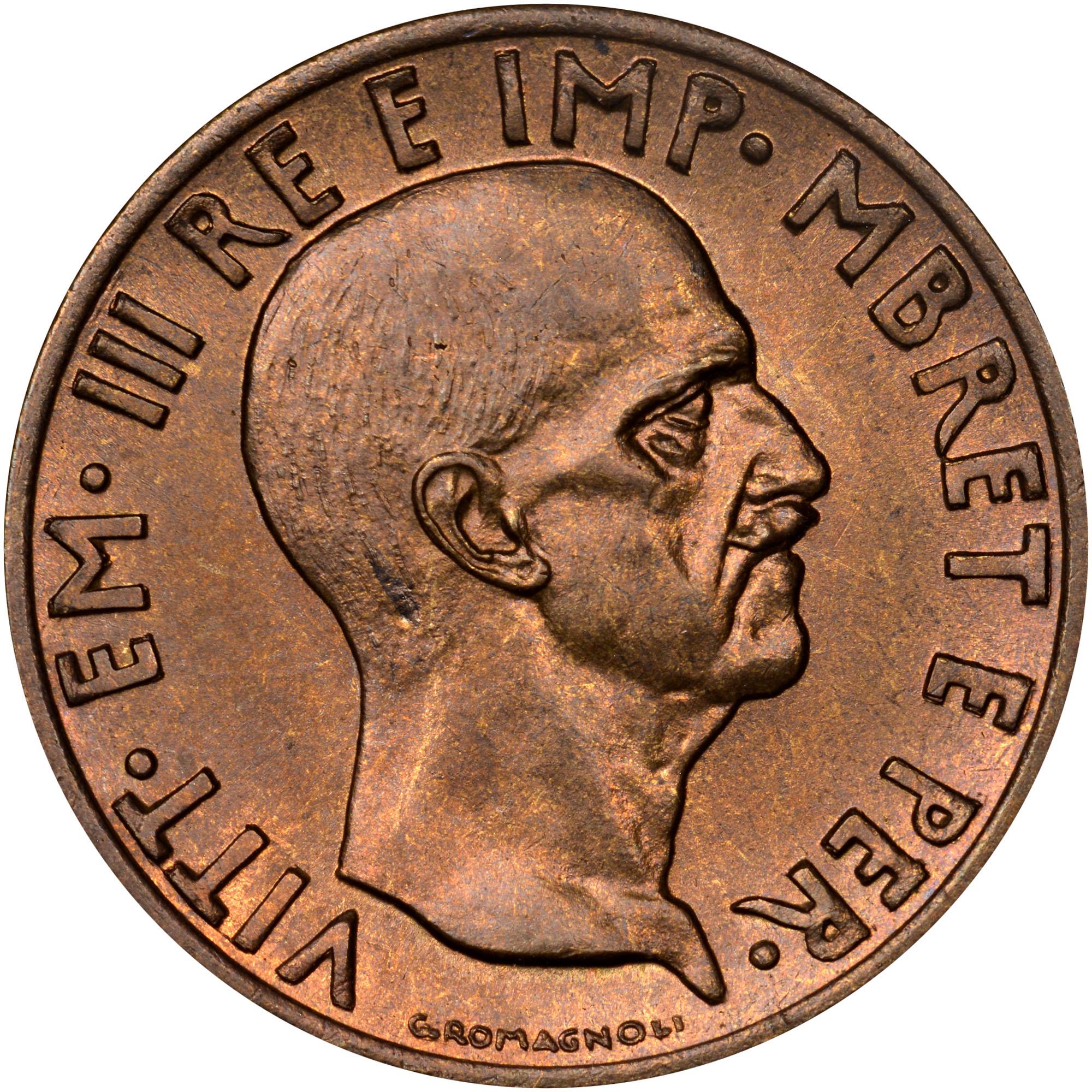 1940-1941 Albania 0.05 Lek obverse