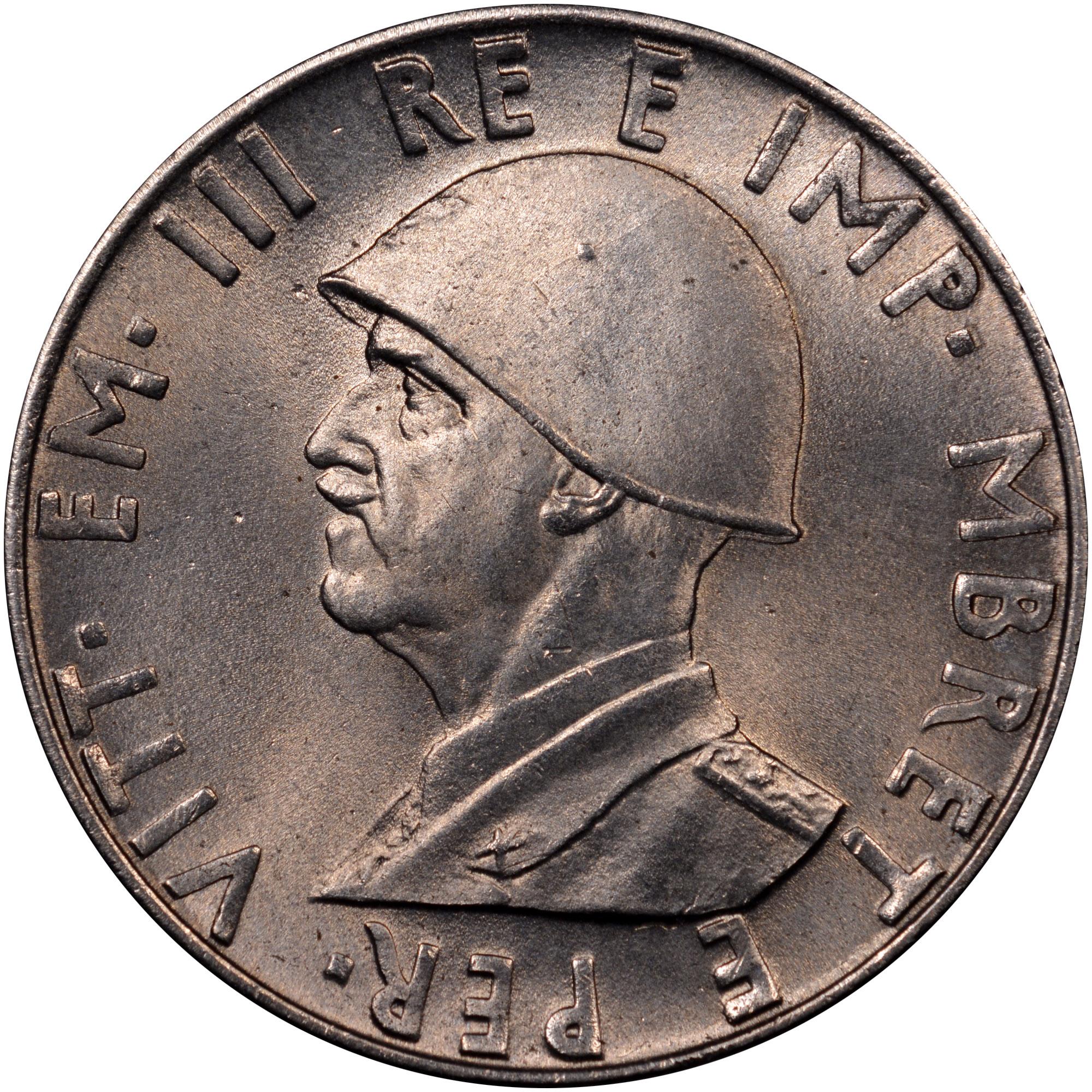 1939-1941 Albania 0.50 Lek obverse
