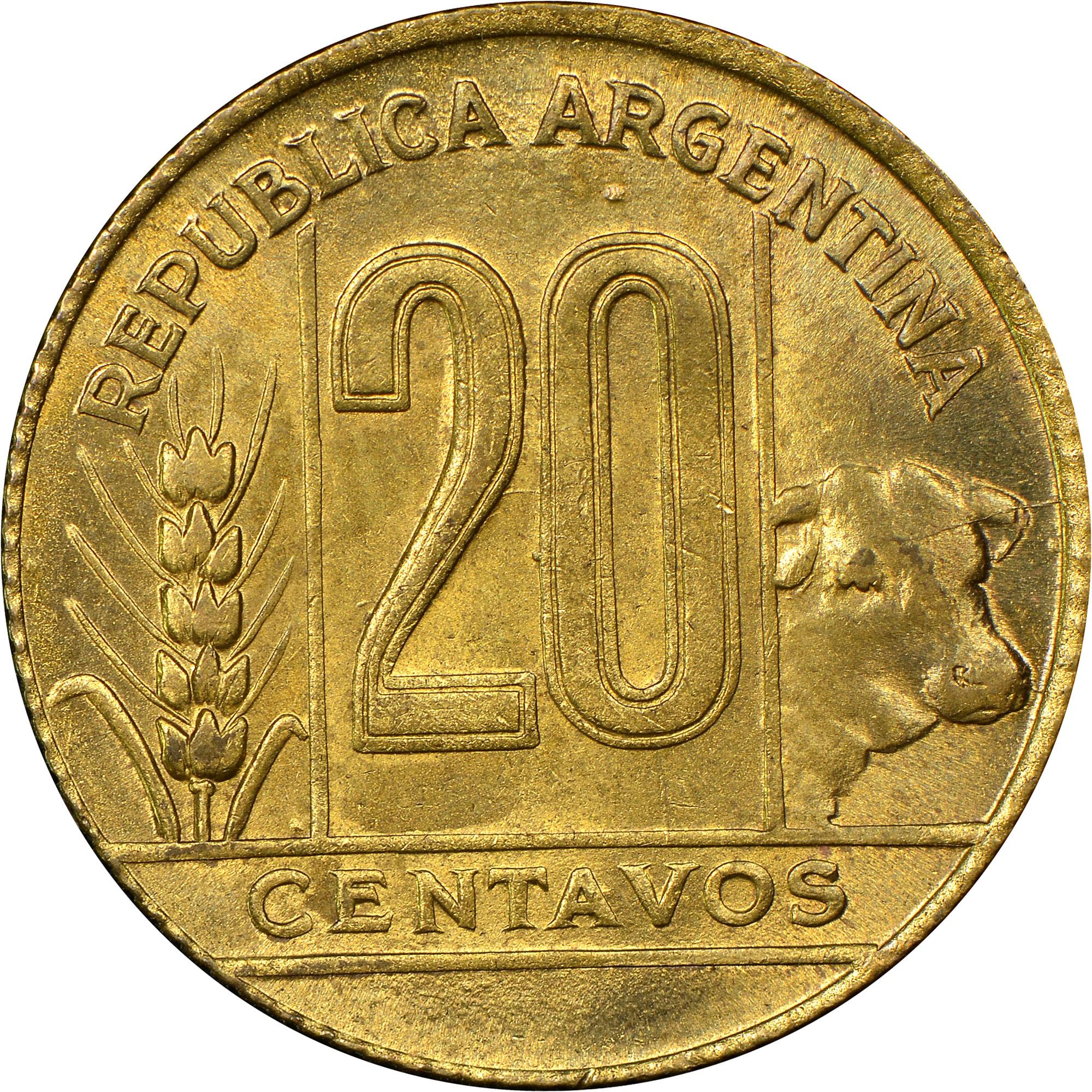 Argentina 20 Centavos obverse